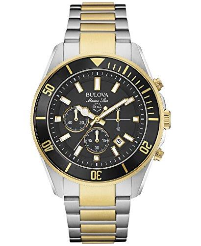 Bulova 98B249 Marine Star Two Tone Stainless Steel Chronograph Analog Watch