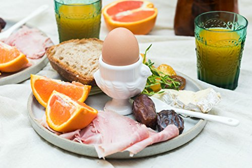 RSVP Porcelain Egg Cups and Spoons, Set of 4 by RSVP International (Image #8)