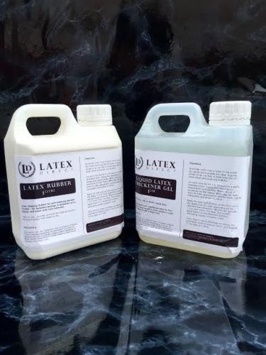 Latex Direct 1 litro de Látex y 1 litro de Espesor de Látex Líquido Moldeado de