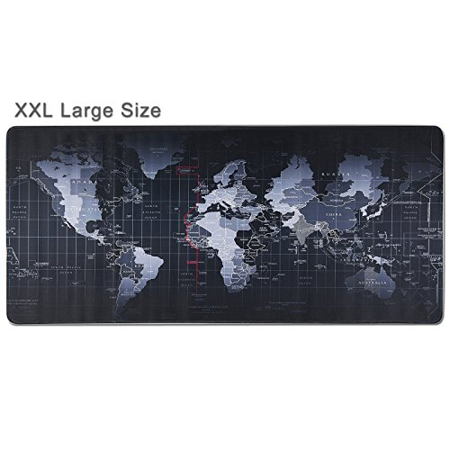 WeYingLe Extended XXL Gaming Mouse Pad - Portable Large Desk Pad - Non Slip Water Resistant Rubber Base, World Map, Gaming Mouse Pad Keyboard Pad. Large Area for Keyboard and Mouse.(World map)
