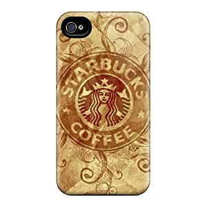 Tpu Shockproof/dirt-proof Starbucks Cover Case For Iphone(4/4s)