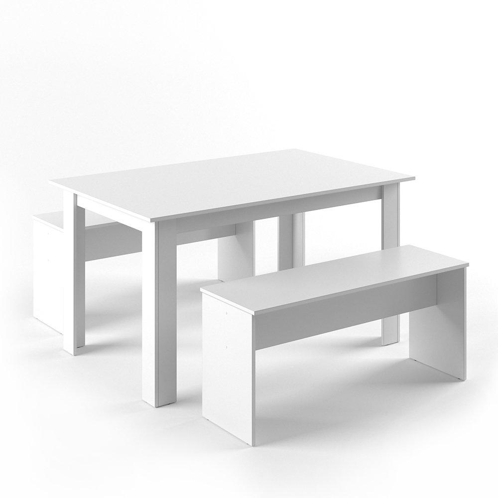 VICCO Tischgruppe 140 x 90 cm - 4 Personen - Esszimmer Esstisch ...