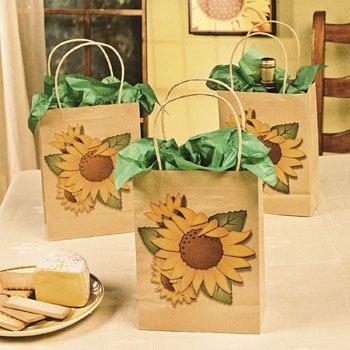 Amazon.com: Bolsas de papel de estraza de girasol – Bolsas ...