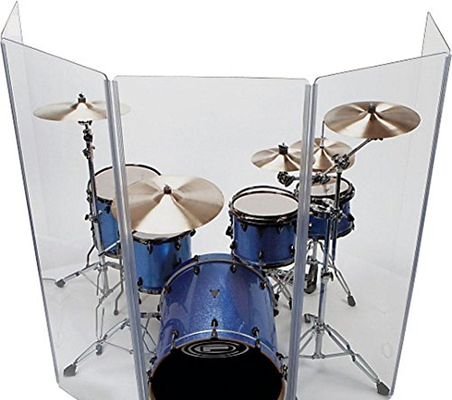 Acrylic Drum Shield - Drum Shield/Drum Screen Panels 6 Panels 2ftX5ft with Flexible Hinges