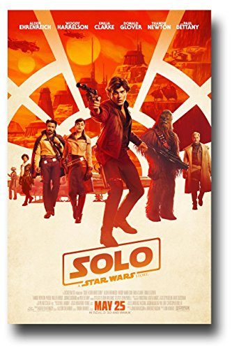 Solo Poster Movie Promo 11 x 17 A Star Wars Story Main Wt