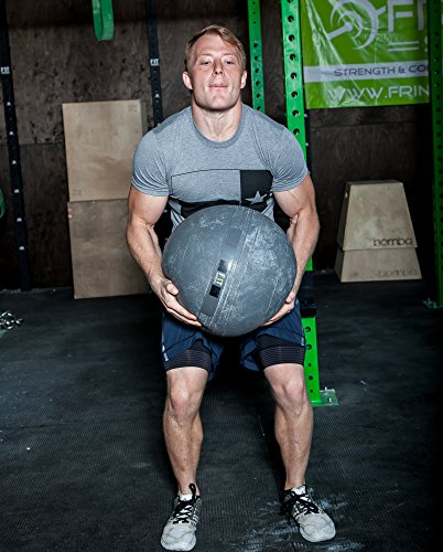 Slam Ball by OneFitWonder - Dead Bounce for Strength Training & Crossfit (50 lb)