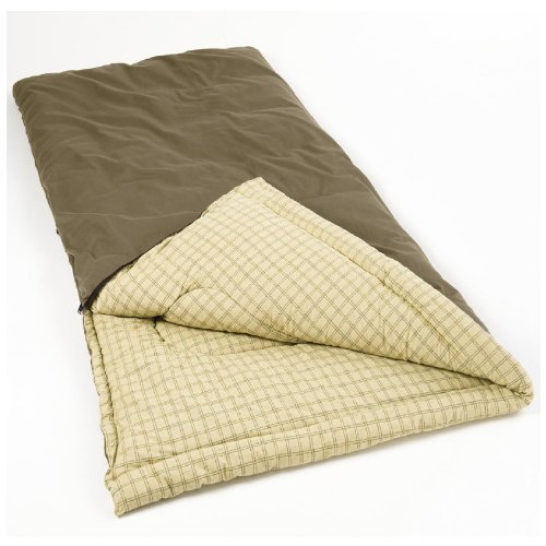 Coleman Big Game Big and Tall Sleeping Bag, Olive, 6-Feet 5-Inch