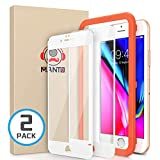 MANTO [2 Pack] Screen Protector for iPhone 8 7 6s 6, Full Coverage Tempered Glass Screen Protector Film Edge to Edge Protection Compatible with iPhone 8 7 6s 6 4.7 Inch, White