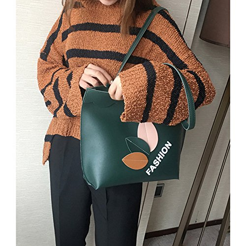 Simple Main Sac Mode Cuir Femme à Verte Sac Bonboho à en Bandoulière Style tpvSqxw