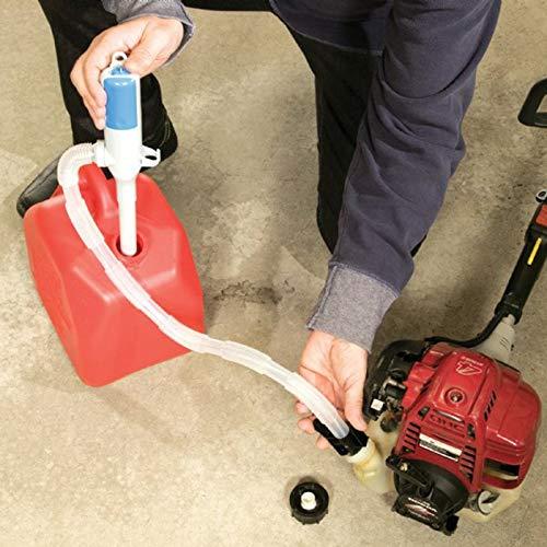Bomba de sif/ón de transferencia de l/íquido accionada por bater/ía de Pudincoco con tubo de succi/ón flexible para gas/óleo y gas/óleo blanco