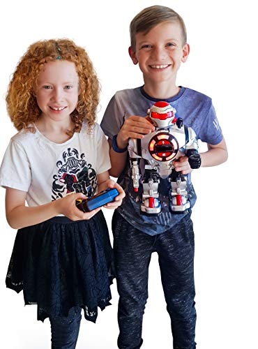 Think Gizmos RoboShooter Remote Control Toy Robot for Kids – Fun RC Toy Robot with Voice Recording, Fires Disks, Plays…