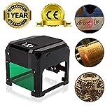 3000MW Laser Engraving Machine(8x8cm), USB Mini Desktop Laser Engraver Printer DIY Logo Mark Printer Cutter CNC Laser Carving Machine