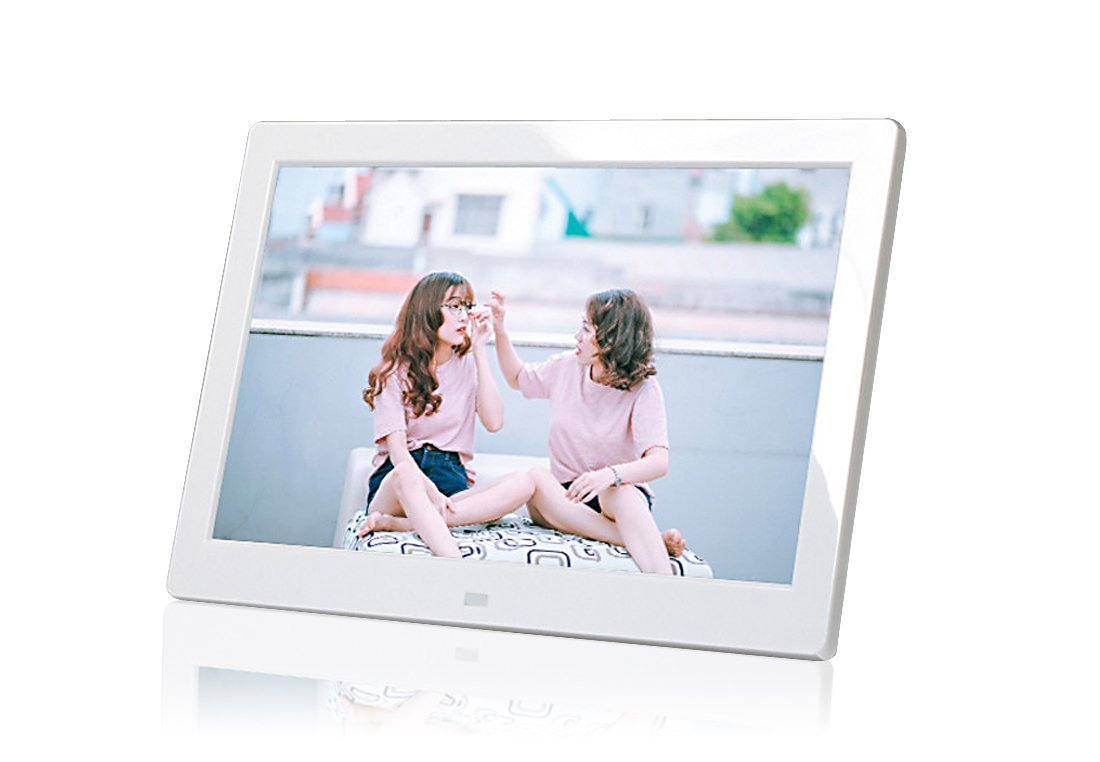PF8050IPS 8inch IPS panel Digital Photo Frame High resolution - Photo, music, video, clock, calendar functions (White) by Digital Photo Frame