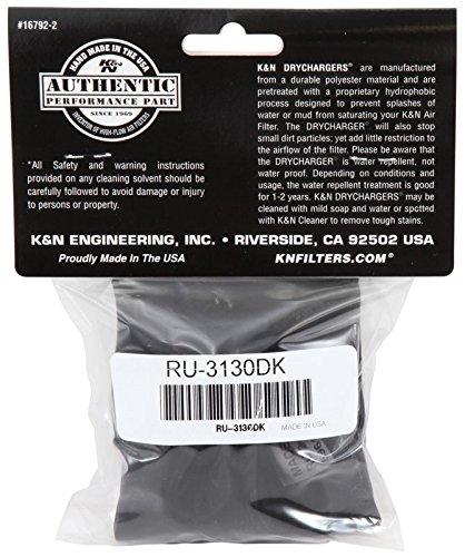 K&N RU-3130DK Black Drycharger Filter Wrap - For Your K&N RU-3130 Filter
