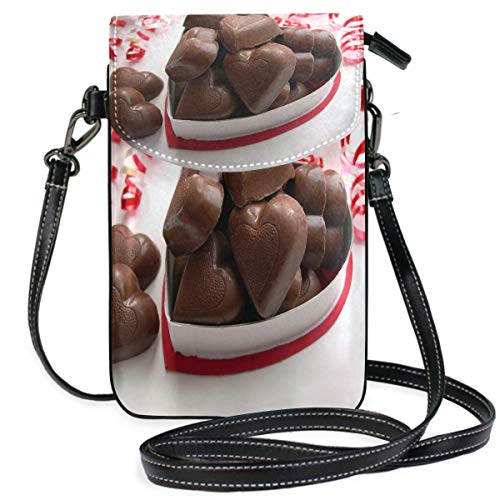 Valentine's Day Chocolate Small Crossbody Bag Cellphone Purse Womens Mini Leather Shoulder Bags
