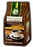Cheap EXCELLENCE GOURMET Ground Brazilian Coffee 12oz 340g MEDIUM Roast 100% Natural Arabica Yellow Catuai Gluten Free Kosher