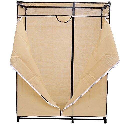 Homcom 48 Quot Cream Portable Wardrobe Clothes Organizer