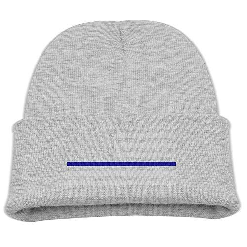 zengjiansm Gorras béisbol Kid's Beanie Hat Blue Lives Matter Police Blue Line Us Flag Skull Cap In 4 Colors