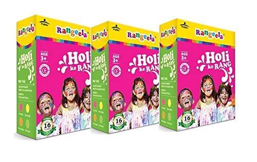 Pidilite Rangeela Holi Ke Rang – 4 Shades Herbal Gulal Natural Colors, 300g Each Pack (Set of 5)