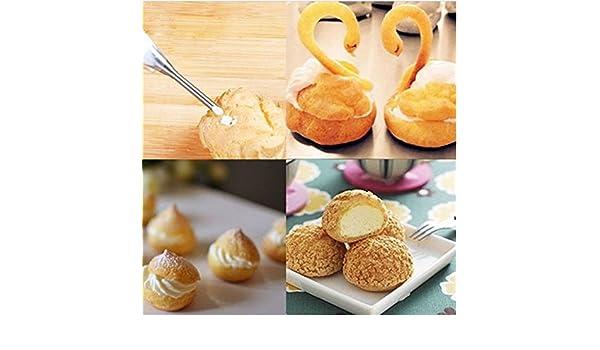 BEST PRICE 2 tamaños de boquilla para pastel, crema de pastel, glaseado y fondant pastelería # 184: Amazon.es: Hogar
