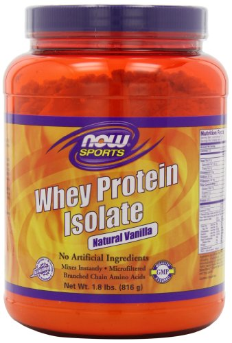 NOW Sports Whey Protein Isolate Vanilla, 1.8 LB