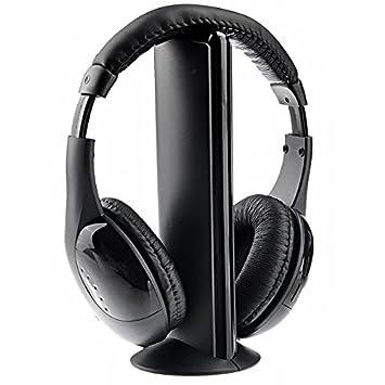 VORCOOL MH2001 5 en 1-S-XBS-Auriculares Hi-Fi Inalámbrico de FM Inalámbrico, Emisor de Radio Control: Amazon.es: Electrónica
