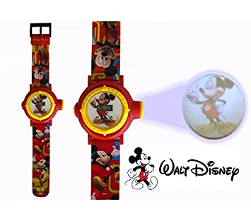 Reloj digital para niños con proyector de imágenes de personajes Disney - Mickey Mouse: Amazon.es: Juguetes y juegos