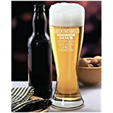 Personalized Beer Glass Groomsmen Gift with Wedding Date Decor Pilsner 23 oz