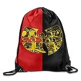 NaDeShop Wu-Tang Clan HIP-HOP Band Logo Drawstring Backpack Sack Bag / Travel Bag