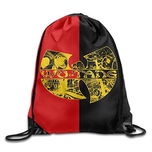 NaDeShop Wu-Tang Clan HIP-HOP Band Logo Drawstring Backpack Sack Bag / Travel Bag by NaDeShop