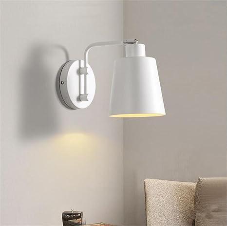 Applique da parete moderna moderna semplice colore bianco lampada da ...