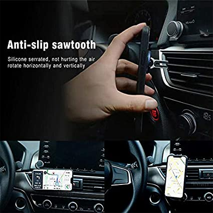 for Car//Daily Use Phone Holder XIANGMENG 2-in-1 Flexible Multi-Use Snap-on Ring Grip Buckle Car Mount Holder,360 Rotating /& Anti-Slip Sawtooth,Strong Stability,Durable Zinc Alloy