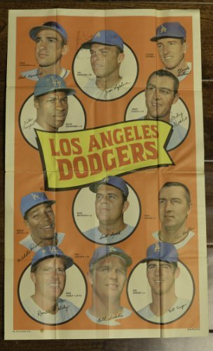 1969 Topps Posters (Baseball) Card# 22 dodgers Drysdale Crawford Davis Fairly Haller Kos of the Los Angeles...
