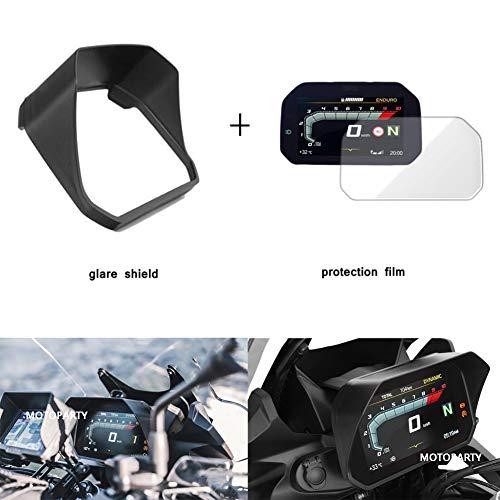 Motoparty Motorcycle Speedometer Visor Display For BMW F750GS F850GS/ADV R1200GS LC/ADV R1250GS/ADV/R F750 F850 R1200 R1250 GS Sun Visor Speedometer Glare shield Cover ()