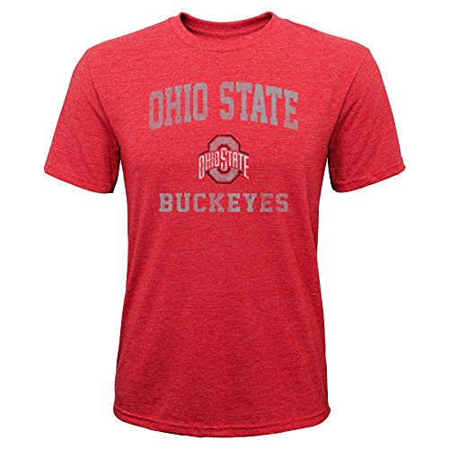- Gen 2 NCAA Ohio State Buckeyes Youth Boys Player Pride Tri-Blend Tee, Youth Boys Large(14-16), Red