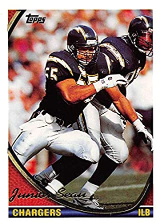895069e4e2 1994 Topps Football Card #250 Junior Seau San Diego Chargers Official NFL  Trading Card