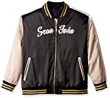Sean John Men's Big and Tall Satin Bomber Jacket, PM Black, 5XLT