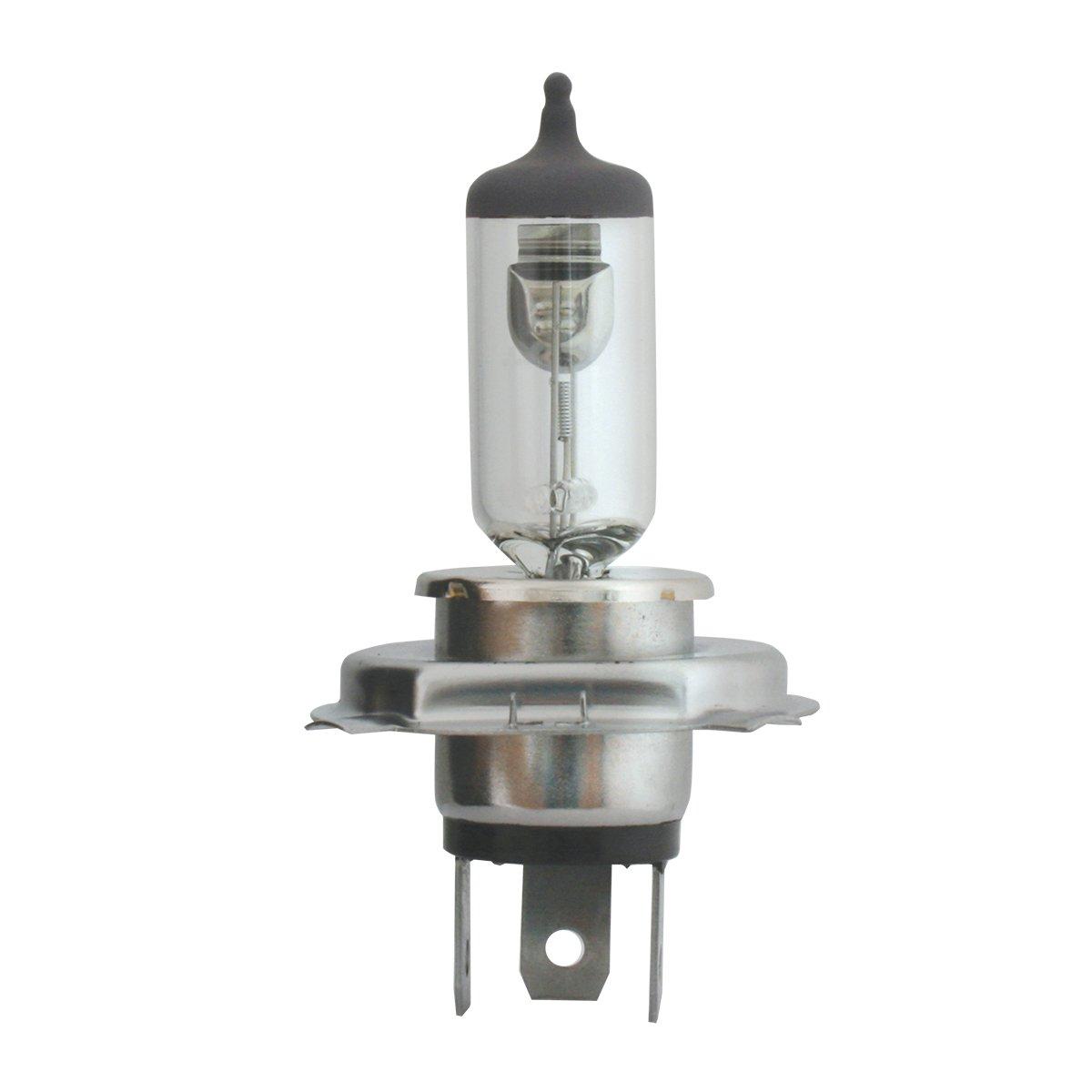 Grand General 82090 H4 Clear Headlight Halogen Bulbs Twin Pack, 12V, 100/90W