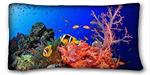 Custom Animal Custom Cotton & Polyester Soft Rectangle Pillow Case Cover 20x36 inches (One Side) suitable for Queen-bed