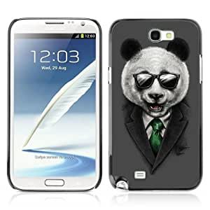 YOYOSHOP [Classy Panda & Sunglasses Illustration] Samsung Galaxy Note 2 Case