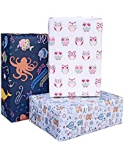 Aakar Pack of 6, Size 17 x 29 Inches, Wrapping Paper Sheets For Craft, Packing, Birthday, Christmas, Wedding (Toddlers Dream)