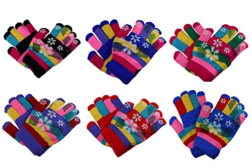 Price comparison product image Gelante Toddler/Children Winter Knitted Magic Gloves Wholesale Lot 6-12 Pairs 9903-004-(2-6Y)