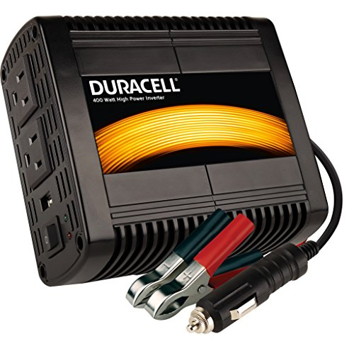 Duracell DRINV400 High Power Inverter, 400 Watt, Black by Duracell Power