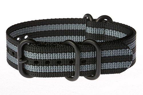OhFlash-Black-Gray-Zulu-5-Ring-PVD-G10-Nylon-Nato-Militaty-Watch-Band-Strap