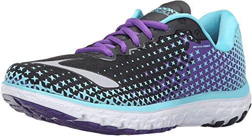 Brooks Women's PureFlow 5 Bluefish/Black/Electric Purple Sneaker 5.5 B (M)