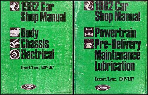 1982 Ford Escort and EXP Mercury Lynx and LN7 Repair Shop Manual Set (Mercury Ln7 Lynx)
