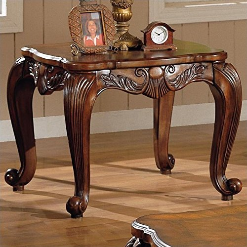 coaster home furnishings 700467 traditional end table, brown