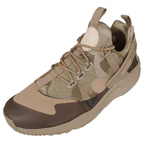 Nike Air Huarache Utility, Zapatillas de Running para Hombre Verde / Marrón (Khaki/Khaki-Matte Olive)