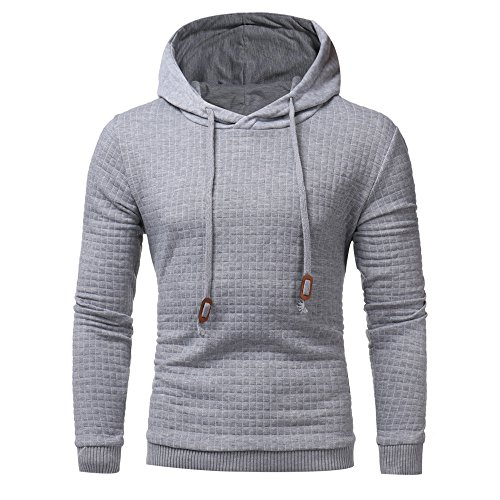 GOVOW Men's Sweatshirt Hoodie Long Sleeve Hoodie Tops Jacket Coat Outwear Gray