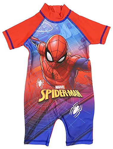 Boys Character All In One Surf Suit Good Coverage From UV Rays 1.5y To 4-5y (Spider-Man, 2-3 Years)